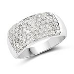 1.21 Carat Genuine White Diamond .925 Sterling Silver Ring