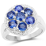 2.66 Carat Genuine Kyanite .925 Sterling Silver Ring