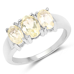 1.58 Carat Genuine Lemon Topaz .925 Sterling Silver Ring