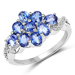2.30 Carat Genuine Kyanite .925 Sterling Silver Ring
