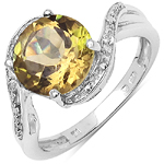 2.60 ct. t.w. Champagne Quartz and White Topaz Ring in Sterling Silver
