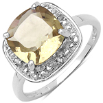 2.70 ct. t.w. Champagne Quartz and White Topaz Ring in Sterling Silver