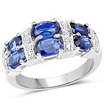 2.44 Carat Genuine Kyanite .925 Sterling Silver Ring