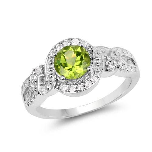 quintessence jewelry 2 55 carat genuine peridot and