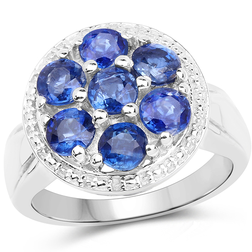 Rings-2.66 Carat Genuine Kyanite .925 Sterling Silver Ring