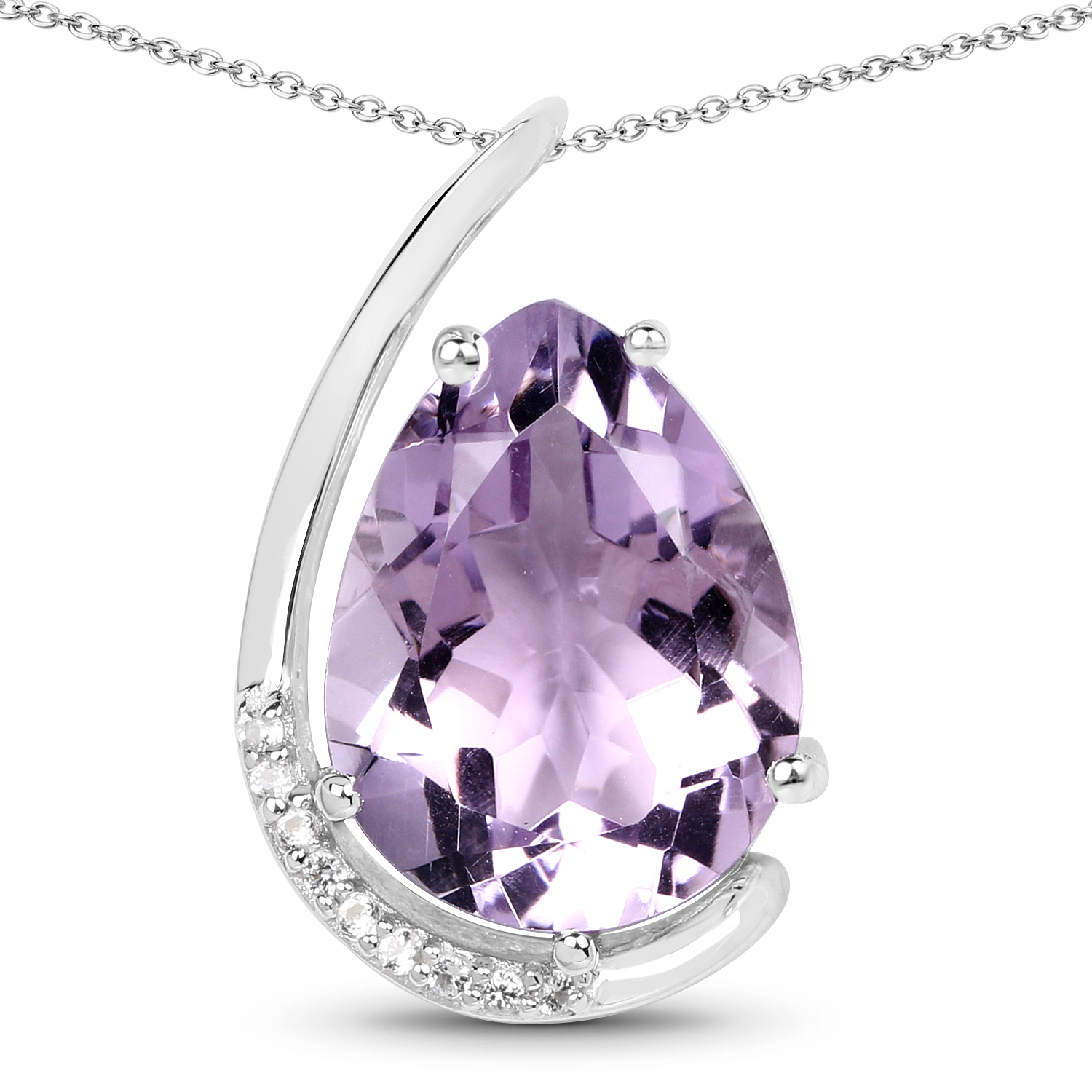 Details about  /1 ct Created Amethyst /& White Sapphire Twist Pendant in Sterling Silver Necklace