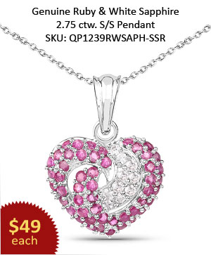 Genuine Amethyst & Black Spinel,  Blue Topaz & Black Spinel .925 Sterling Silver Pendant