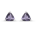 0.16 Carat Genuine Iolite .925 Sterling Silver Earrings
