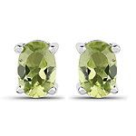 1.66 Carat Genuine Peridot .925 Sterling Silver Earrings