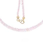 14K Yellow Gold Plated 60.00 Carat Genuine Morganite .925 Sterling Silver Necklace
