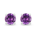 1.53 Carat Genuine Amethyst .925 Sterling Silver Earrings