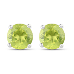 1.71 Carat Genuine Peridot .925 Sterling Silver Earrings
