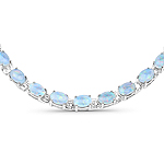 32.83 Carat Genuine Opal .925 Sterling Silver Necklace