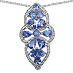 2.06 Carat Genuine Tanzanite Sterling Silver Pendant