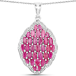 4.46 Carat Genuine Ruby .925 Sterling Silver Pendant