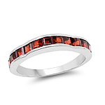2.25 Carat Genuine Garnet .925 Sterling Silver Ring