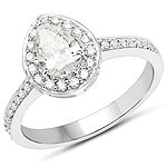 14K White Gold 1.03 Carat Genuine White Diamond Ring