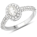 14K White Gold 1.27 Carat Genuine White Diamond Ring