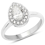 14K White Gold 0.70 Carat Genuine White Diamond Ring