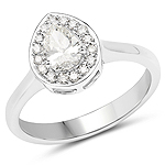 14K White Gold 0.64 Carat Genuine White Diamond Ring