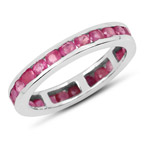 2.08 Carat Genuine Ruby .925 Sterling Silver Ring