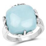 10.00 Carat Genuine Turquoise .925 Sterling Silver Ring
