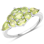 2.36 Carat Genuine Peridot .925 Sterling Silver Ring