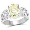 2.80 Carat Genuine Lemon Quartz .925 Sterling Silver Ring