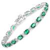 10.50 Carat Created Emerald .925 Sterling Silver Bracelet