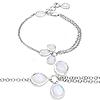 5.86 Carat Genuine White Rainbow Moonstone .925 Sterling Silver Bracelet