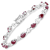 5.85 Carat Genuine Ruby .925 Sterling Silver Bracelet