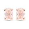 14K Rose Gold Plated 0.80 Carat Genuine Morganite .925 Sterling Silver Earrings