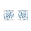 0.44 Carat Genuine Aquamarine .925 Sterling Silver Earrings