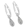 0.28 Carat Genuine White Diamond .925 Sterling Silver Earrings