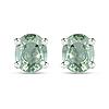0.68 Carat Genuine Green Sapphire .925 Sterling Silver Earrings
