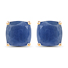 8.00 Carat Genuine Blue Sapphire 14K Yellow Gold Earrings
