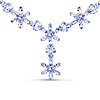 41.76 Carat Genuine Tanzanite .925 Sterling Silver Necklace