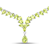 36.75 Carat Genuine Peridot .925 Sterling Silver Necklace
