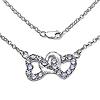 1.70 Carat Genuine Tanzanite .925 Sterling Silver Necklace