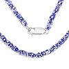 21.50 Carat Genuine Tanzanite .925 Sterling Silver Necklace