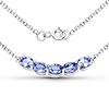 1.65 Carat Genuine Tanzanite .925 Sterling Silver Necklace