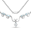 2.96 Carat Genuine Blue Topaz .925 Sterling Silver Necklace