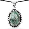 25.10 Carat Genuine Emerald .925 Sterling Silver Pendant