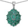 2.36 Carat Genuine Emerald .925 Streling Silver Pendant