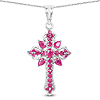 1.85 Carat Genuine Ruby Sterling Silver Pendant
