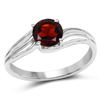 1.20 Carat Genuine Garnet .925 Sterling Silver Ring