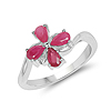 1.00 Carat Genuine Glass Filled Ruby .925 Sterling Silver Ring