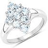 1.08 Carat Genuine Blue Topaz .925 Sterling Silver Ring