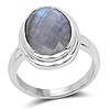 4.73 Carat Genuine Labradorite .925 Sterling Silver Ring