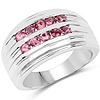 1.00 Carat Genuine Pink Tourmaline .925 Sterling Silver Ring